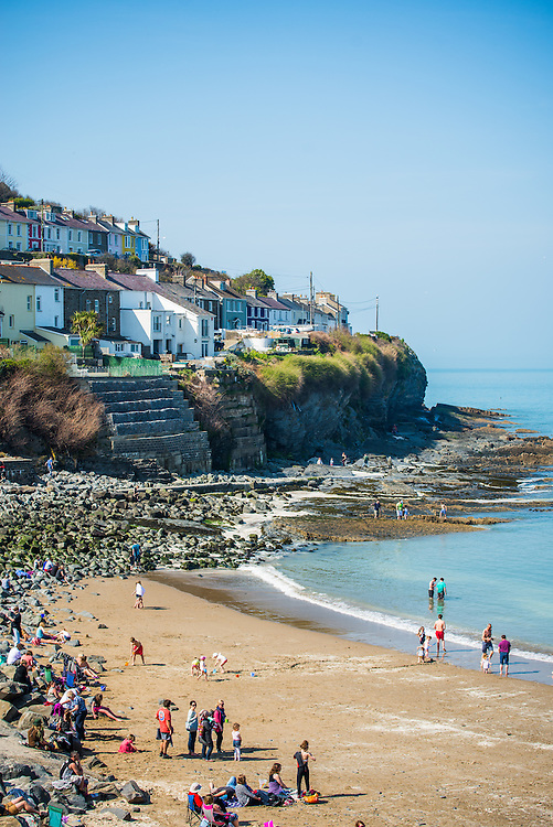 The small coastal town of New Quay in Ceredigion, Wales
