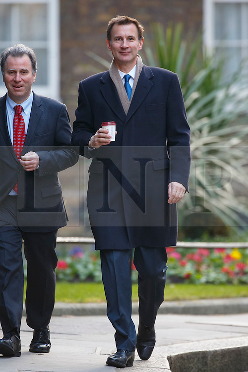 © Licensed to London News Pictures. 16/03/2016. London, UK. Health Secretary, JEREMY HUNT attending to a cabinet meeting in Downing Street on the Budget Day, Wednesday, 16 March 2016. Photo credit: Tolga Akmen/LNP