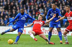 Junior Hoilett of Cardiff City shoots at goal - Mandatory by-line: Nizaam Jones/JMP - 17/02/2018 -  FOOTBALL - Cardiff City Stadium - Cardiff, Wales -  Cardiff City v Middlesbrough - Sky Bet Championship