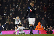 Fulham midfielder Stefan Johansen (14) celebrating scoring 2-1 during the EFL Sky Bet Championship match between Fulham and Derby County at Craven Cottage, London, England on 17 December 2016. Photo by Matthew Redman.