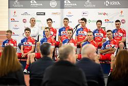 Team during presentation of cycling club KK Adria Mobil before new season 2019, on February 14, 2019 in Velodrom Cesca vas, Novo mesto, Slovenia. Photo by Vid Ponikvar / Sportida
