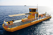 "Israel, Eilat, The underwater observatory Built over a coral reef The ""Yellow Submarine"" tours the reef"