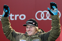 13.02.2013, Medal Plaza, Schladming, AUT, FIS Weltmeisterschaften Ski Alpin, Super Kombination,  Herren, Siegerehrung, im Bild Ted Ligety (USA, 1. Platz) // 1st place Ted Ligety from United States at the Winner Award Ceremony for Mens Super Combined at the FIS Ski World Championships 2013 at the Medal Plaza, Schladming, Austria on 2013/02/13. EXPA Pictures © 2013, PhotoCredit: EXPA/ Martin Huber