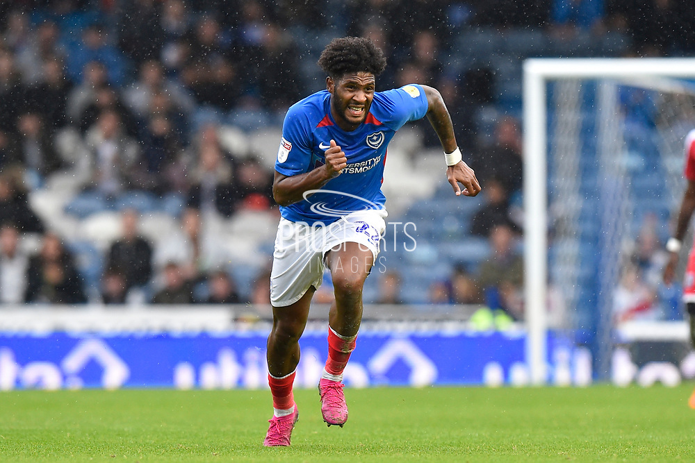 Ellis Harrison (22) of Portsmouth on the attack during the EFL Sky Bet League 1 match between Portsmouth and Gillingham at Fratton Park, Portsmouth, England on 12 October 2019.