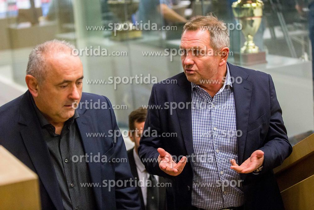 Matjaz Kek and Radenko Mijatovic during Press conference of new head coach of Team Slovenia, on November 27, 2018 in National Football Centre, Brdo pri Kranju, Slovenia. Photo by Ziga Zupan / Sportida