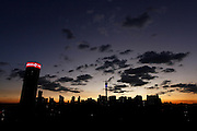 South Africa. Johannesburg skyline at night including the Ponte and Telkom towers and Hillbrow, © Zute Lightfoot www.lightfootphoto.com.