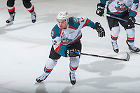 KELOWNA, CANADA - FEBRUARY 18: Erik Gardiner #12 of the Kelowna Rockets skates against the Prince George Cougars on February 18, 2017 at Prospera Place in Kelowna, British Columbia, Canada.  (Photo by Marissa Baecker/Shoot the Breeze)  *** Local Caption ***