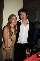 OTIS FERRY and ANOUSKA BECKWITH at Andy & Patti Wong's annual Chinese New year Party, this year to celebrate the Year of The Pig, held at Madame Tussauds, Marylebone Road, London on 27th January 2007.<br />