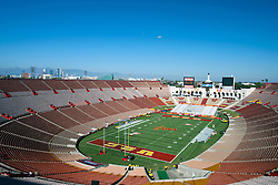 September 11, 2010; Los Angeles, CA, USA;  Los Angeles Memorial Coliseum before the game between the Southern California Trojans and the Virginia Cavaliers.