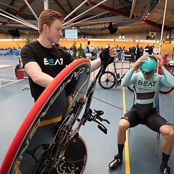 29-12-2019: Wielrennen: NK Baan: Alkmaar<br />Theo Bos wedstrijd voorbereiding