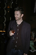 Jamie Hewlett of the Gorillaz, Dom Perignon and Exit present Room service, an exhibition of photographs featuring Eva Herzigova  by Karl Largerfeld. -DO NOT ARCHIVE-© Copyright Photograph by Dafydd Jones 66 Stockwell Park Rd. London SW9 0DA Tel 020 7733 0108 www.dafjones.com