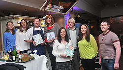 Patricia and James O'Doherty with Neven Maguire and staff from The Creel at the cookery demonstration in aid of the Aoife Beary fund at Hotel Westport on friday last.Pic Conor McKeown