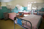 Empty beds in the fistula ward at Kitovu Hospital, Uganda.<br /> <br /> Their aren't any locally trained doctors and so patients have to wait until one of the Fistula camps is on. This is when doctors from outside the Uganda come and perform these operations.<br /> <br /> RCOG is involved in facilitating these camps.