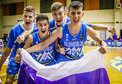 during basketball match between National teams of Netherlands and Slovenia in the 1/16 of FIBA U18 European Championship 2019, on July 31, 2019 in Portraria, Volos, Greece. Photo by Vid Ponikvar / Sportida