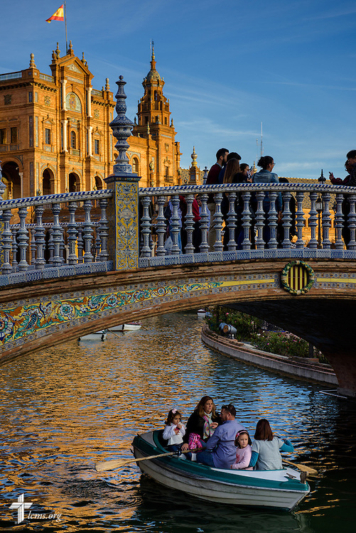 Tourists at the Plaza de España on Sunday, Nov. 6, 2016, in Seville, Spain.  LCMS Communications/Erik M. Lunsford