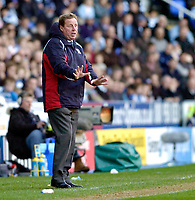 Photo: Leigh Quinnell.<br /> Reading v Portsmouth. The Barclays Premiership. 17/03/2007. Portsmouth boss Harry Redknapp speaks out.