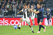 Juventus Forward Paulo Dybala battles with Manchester United Midfielder Nemanja Matic during the Champions League Group H match between Juventus FC and Manchester United at the Allianz Stadium, Turin, Italy on 7 November 2018.