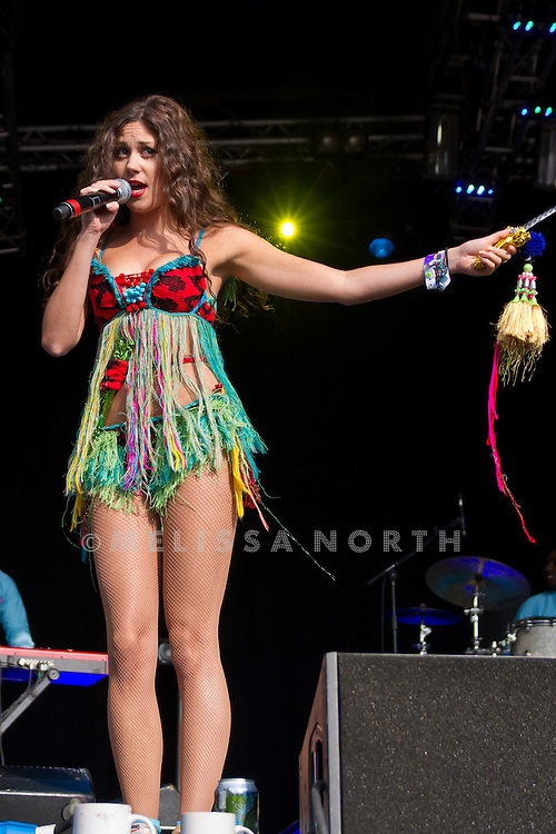 Eliza Doolittle performs at Camp Bestival on 30 July 2011 in Lulworth, UK. Photograph by Melissa North