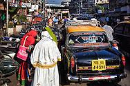 A street scene in Mumbai.