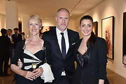 Anne Malat, Jean-David Malat and Iriane Malat at the launch of the new JD Malat Gallery, 30 Davies Street, London, England. 05 June 2018.