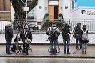 "The media gathers outside Abbey Road Studios in Maida Vale, London, following the death of ""Fifth Beatle"" Sir George Martin, aged 90. <br /> Picture by Paul Davey/Focus Images Ltd +447966 016296<br /> 09/03/2016"