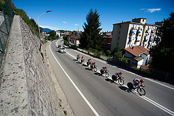 Servetto Stradalli Cycle Alu Recycling at Giro Rosa 2018 - Stage 1, a 15.5 km team time trial in Verbania, Italy on July 6, 2018. Photo by Sean Robinson/velofocus.com