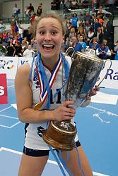20190424 NED: Sliedrecht Sport - VC Sneek: Sliedrecht<br /> Sliedrecht Sport Nederlands Kampioen Volleybal Seizoen 2018 - 2019, Ana Rekar (11) of Sliedrecht Sport <br /> ©2019-FotoHoogendoorn.nl / Pim Waslander