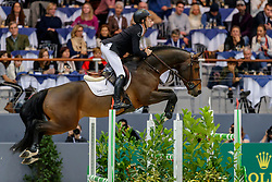 BRASH Scott (GBR), Hello Vincent<br /> Genf - CHI Geneve Rolex Grand Slam 2019<br /> Credit Suisse Challenge<br /> Internationales Fehler/Zeit Springen<br /> International Jumping Competition 1m55<br /> Against the Clock<br /> 14. Dezember 2019<br /> © www.sportfotos-lafrentz.de/Stefan Lafrentz