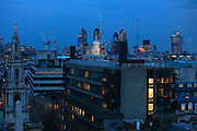 Views of  St Pauls cathedral and the City of London from the roof top bar of the ME Hotel in Aldwych central london.<br /> Picture by Zute Lightfoot