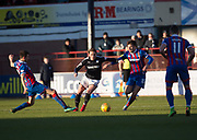 20th January 2018, Dens Park, Dundee, Scotland; Scottish Cup fourth round, Dundee versus Inverness Caledonian Thistle; Dundee's Scott Allan goes past Inverness Caledonian Thistle's Brad McKay