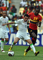 FOOTBALL - AFRICAN NATIONS CUP 2010 - GROUP A - ALGERIA v ANGOLA - 18/01/2010 - PHOTO MOHAMED KADRI / DPPI - KARIM ZIANI (ALG) / MANUCHO (ANG)