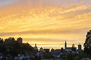 Abendhimmel über Lindenfels, Odenwald, Hessen, Deutschland | Evening sky over Lindenfels, Odenwald, Hesse, Germany