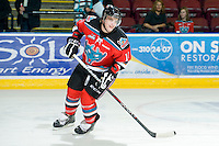 KELOWNA, CANADA, OCTOBER 20: Carter Rigby #11 of the Kelowna Rockets skates on the ice as  the Vancouver Giants visited the Kelowna Rockets on October 20, 2011 at Prospera Place in Kelowna, British Columbia, Canada (Photo by Marissa Baecker/shootthebreeze.ca) *** Local Caption ***Carter Rigby;