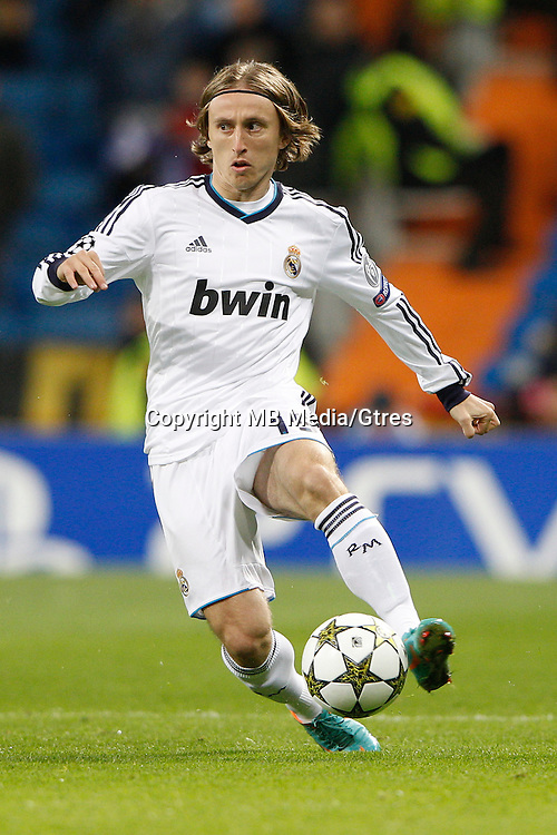 04.12.2012 SPAIN -  Champions League 12/13 Matchday 6th  match played between Real Madrid CF vs AFC Ajax (4-1) at Santiago Bernabeu stadium. The picture show Luka Modric (Croatian midfielder of Real Madrid)