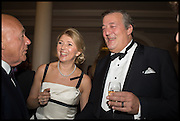 VLADIMIR POSNER; LYUBA GALKINA; STEPHEN FRY, The Old Russian New Year's Eve Gala. In aid of the Gift of Life foundation. Savoy Hotel, London. 13 January 2015.