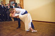 "Annapolis, Maryland - April 18, 2015: Newlyweds Stephanie Shearer Cate and Winston Bao Lord wow the audience with a surprise choreographed ""first dance"" at their friends Jeff and Marry Zients' property in Annapolis, Maryland Saturday April 18, 2015. Winston is on the board for the DC Ballet. The couple hired two dancers, Morgann Rose & Dan Roberge, to choreograph the piece, which took a month of practice.<br /> <br /> CREDIT: Matt Roth for The New York Times<br /> Assignment ID: 30173318A"