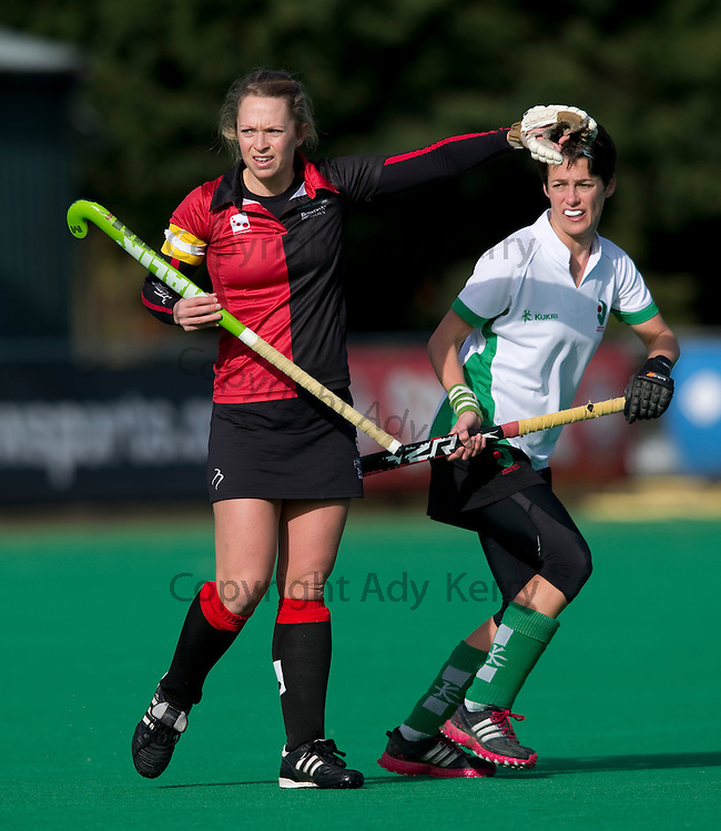 Bowdon's Fay Nash during their Investec Women's Hockey League Premier Division game at Canterbury HC, 8th February 2014.