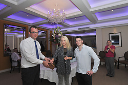 Barney Clarke from the Wyatt Hotel assists Louise and Aidan O'Boyle Sullivan select their 'Secret Supper' location as part of the Westport Food Festival.<br /> Pic Conor McKeown