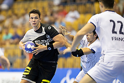 Fredrik Simak of Germany during handball match between National teams of Germany and France in Semifinal of 2018 EHF U20 Men's European Championship, on July 25, 2018 in Arena Zlatorog, Celje, Slovenia. Photo by Urban Urbanc / Sportida