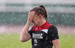 wipes rain off her face - Mandatory by-line: Robbie Stephenson/JMP - 25/06/2016 - FOOTBALL - Stoke Gifford Stadium - Bristol, England - Bristol City Women v Oxford United Women - FA Women's Super League 2