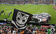 Vodafone one tribe fans parade a huge Vodafone Warriors jersey prior to the start of the NRL match between the Vodafone Warriors and the Paramatta Eels at Mt Smart Stadium, Auckland, New Zealand, Satruday 14 March 2009. Photo: Andrew Cornaga/PHOTOSPORT
