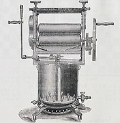 Washing machine by Watson and Whalley of Keighley, Yorkshire, England, patented 1884.