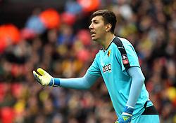 Costel Pantilimon of Watford - Mandatory by-line: Robbie Stephenson/JMP - 24/04/2016 - FOOTBALL - Wembley Stadium - London, England - Crystal Palace v Watford - The Emirates FA Cup Semi-Final