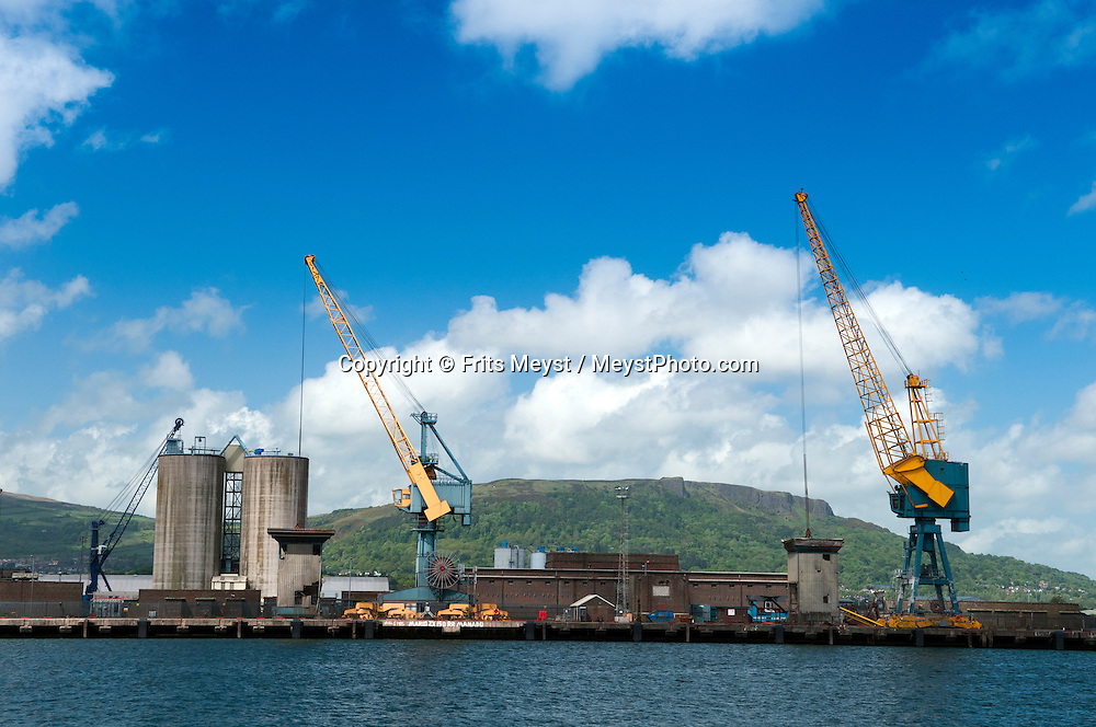 Belfast, Northern Ireland, United Kingdom, May 2011. Belfast Port Harbour. For decades travellers stayed away from the sectarian violence, but since the end of'The Troubles' more and more people start discoving the beauty of Belfast and the Antrim Coast Causeway. Photo by Frits Meyst/Adventure4ever.com