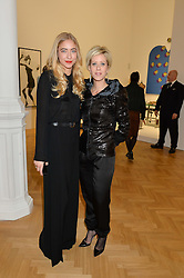 Left to right, ALINA KOHLEM and ELIZABETH ESTEVE at the opening private view of 'A Strong Sweet Smell of Incense - A portrait of Robert Fraser, held at the Pace Gallery, Burlington Gardens, London on 5th February 2015.