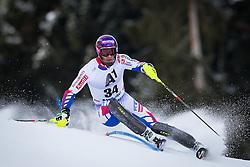 27.01.2013, Ganslernhang, Kitzbuehel, AUT, FIS Weltcup Ski Alpin, Slalom, Herren, 1. Lauf, im Bild Adrien Theaux (FRA) // Adrien Theaux of France in action during 1st run of the  mens Slalom of the FIS Ski Alpine World Cup at the Ganslernhang course, Kitzbuehel, Austria on 2013/01/27. EXPA Pictures © 2013, PhotoCredit: EXPA/ Johann Groder