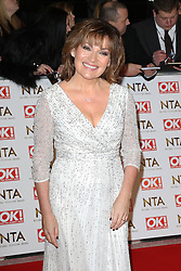 © Licensed to London News Pictures. 21/01/2015, UK. Lorraine Kelly, National Television Awards, The O2, London UK, 21 January 2015. Photo credit : Richard Goldschmidt/Piqtured/LNP