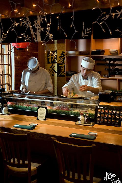 Chefs at Yokohama Restaurant prepare a signature dish, Thursday, Jan. 22, 2009 in Maple Shade, NJ.