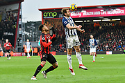 Craig Dawson (25) of West Bromwich Albion heads the ball with Joshua King (17) of AFC Bournemouth behind him during the Premier League match between Bournemouth and West Bromwich Albion at the Vitality Stadium, Bournemouth, England on 17 March 2018. Picture by Graham Hunt.
