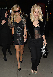 Paris Hilton and Sofia Richie at the Tape Club in London, UK. 21/01/2017<br />BYLINE MUST READ : GOTCHAIMAGES.COM<br /><br />Copyright by © Gotcha Images Ltd. All rights reserved.<br />Usage of this image is conditional upon the acceptance <br />of Gotcha Images Ltd, terms and conditions available at<br />www.gotchaimages.com